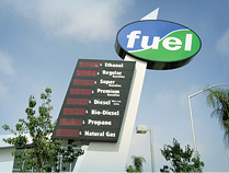 Photo of a fueling station sign