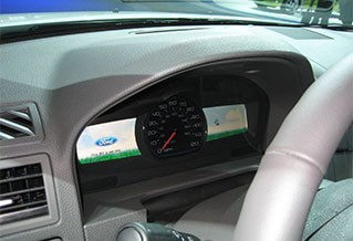 Photo of a car dashboard