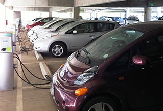 Photo of electric vehicles charging