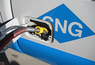 Photo of a compressed natural gas vehicle