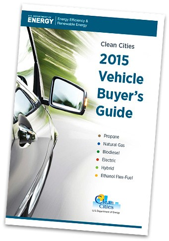 A photo of the cover of the 2015 Vehicle Buyer's Guide