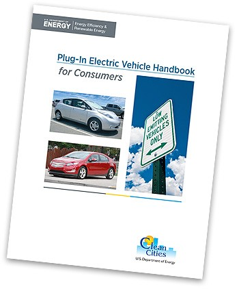 An image of the cover of the Plug-In Electric Vehicle Handbook for Consumers.